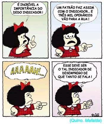 Mafalda: a importância do dedo indicador