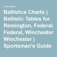 Ballistics Charts  Chart And Deer Hunting