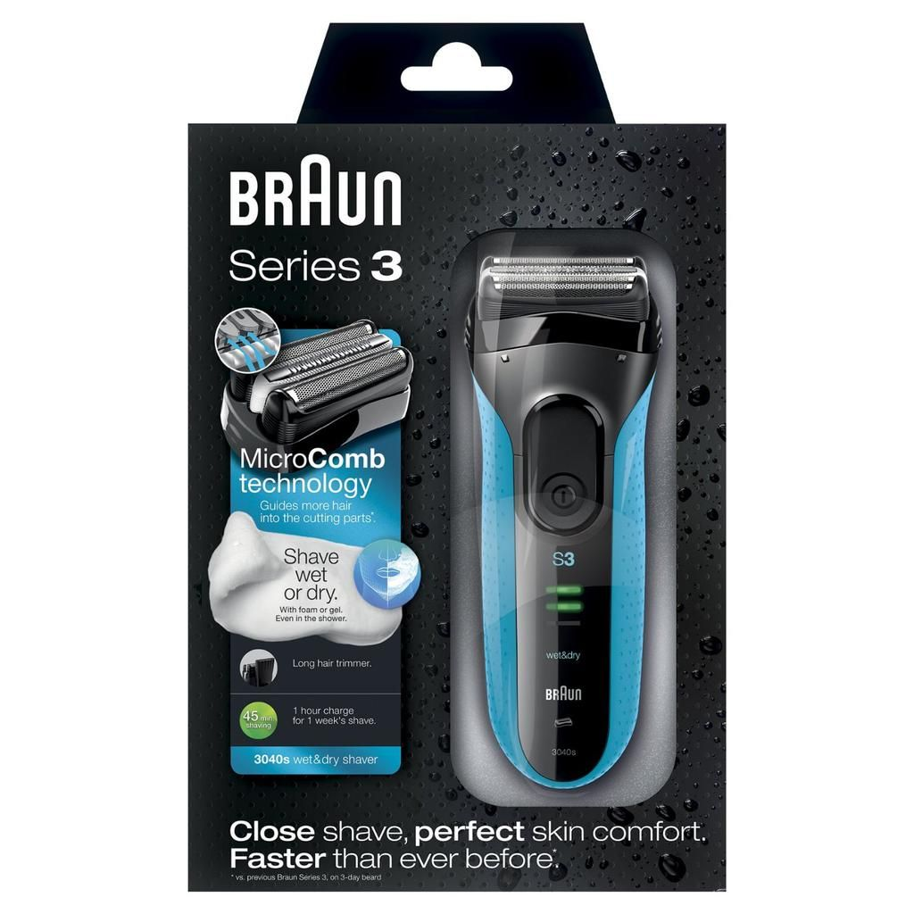 Mens Bargains Uk On Foil Shaver Braun Series 3 Wet Dry