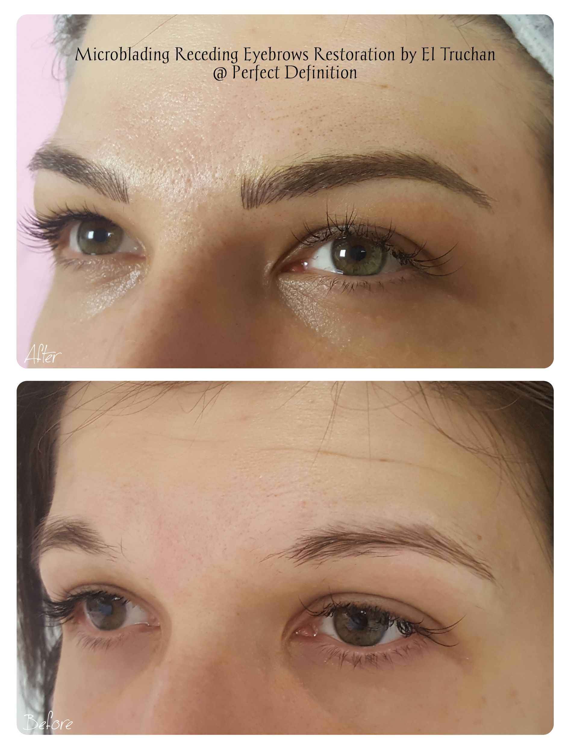 Powder Brows Add Colour Permanent makeup eyebrows