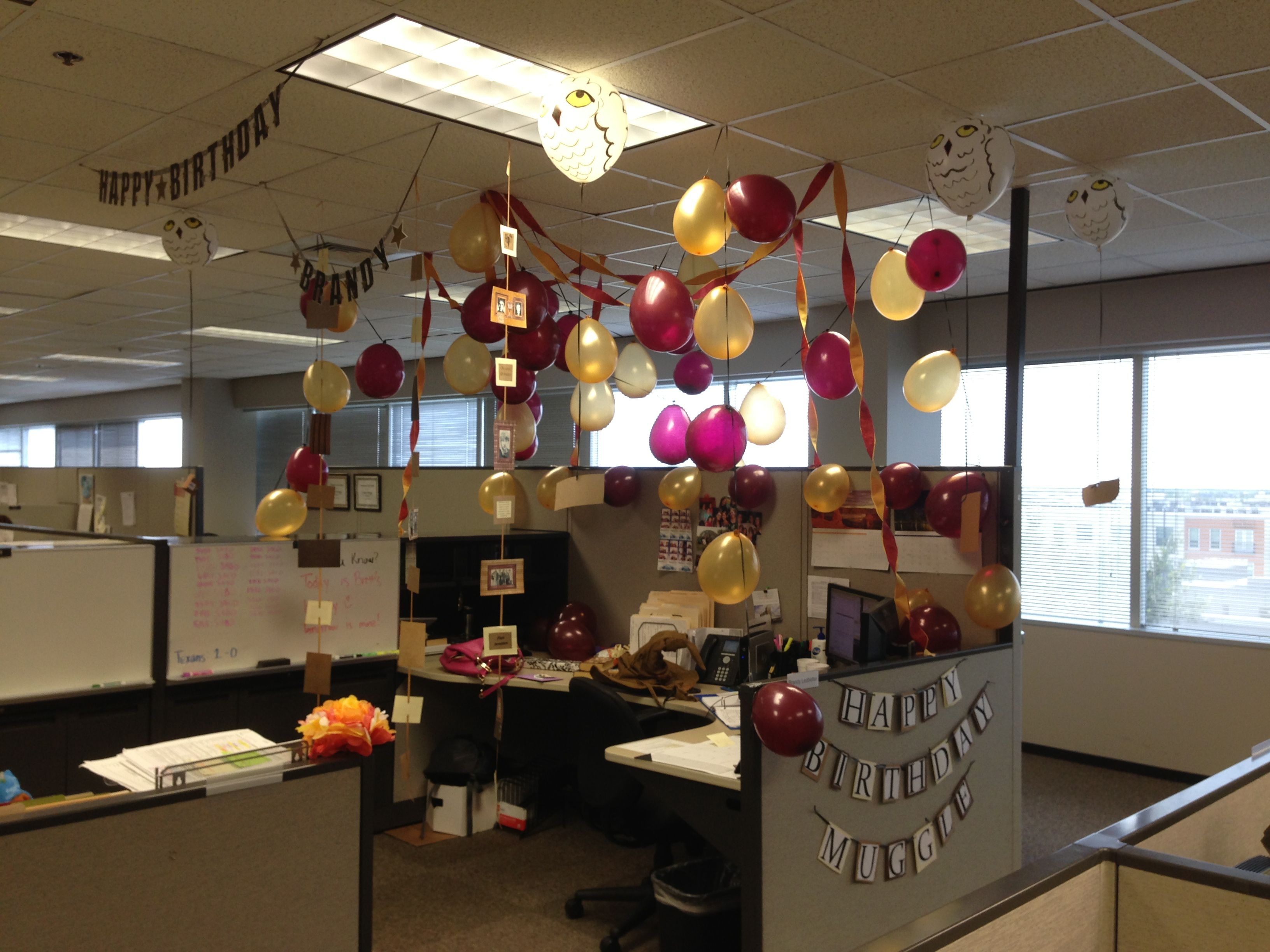 Harry potter birthday decorations for the office harry for Decoration harry potter