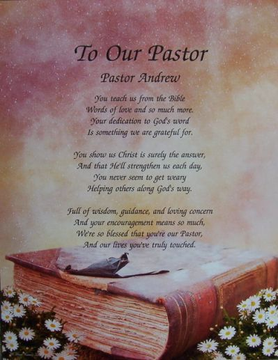 Inspirational Poems For Pastor Anniversary