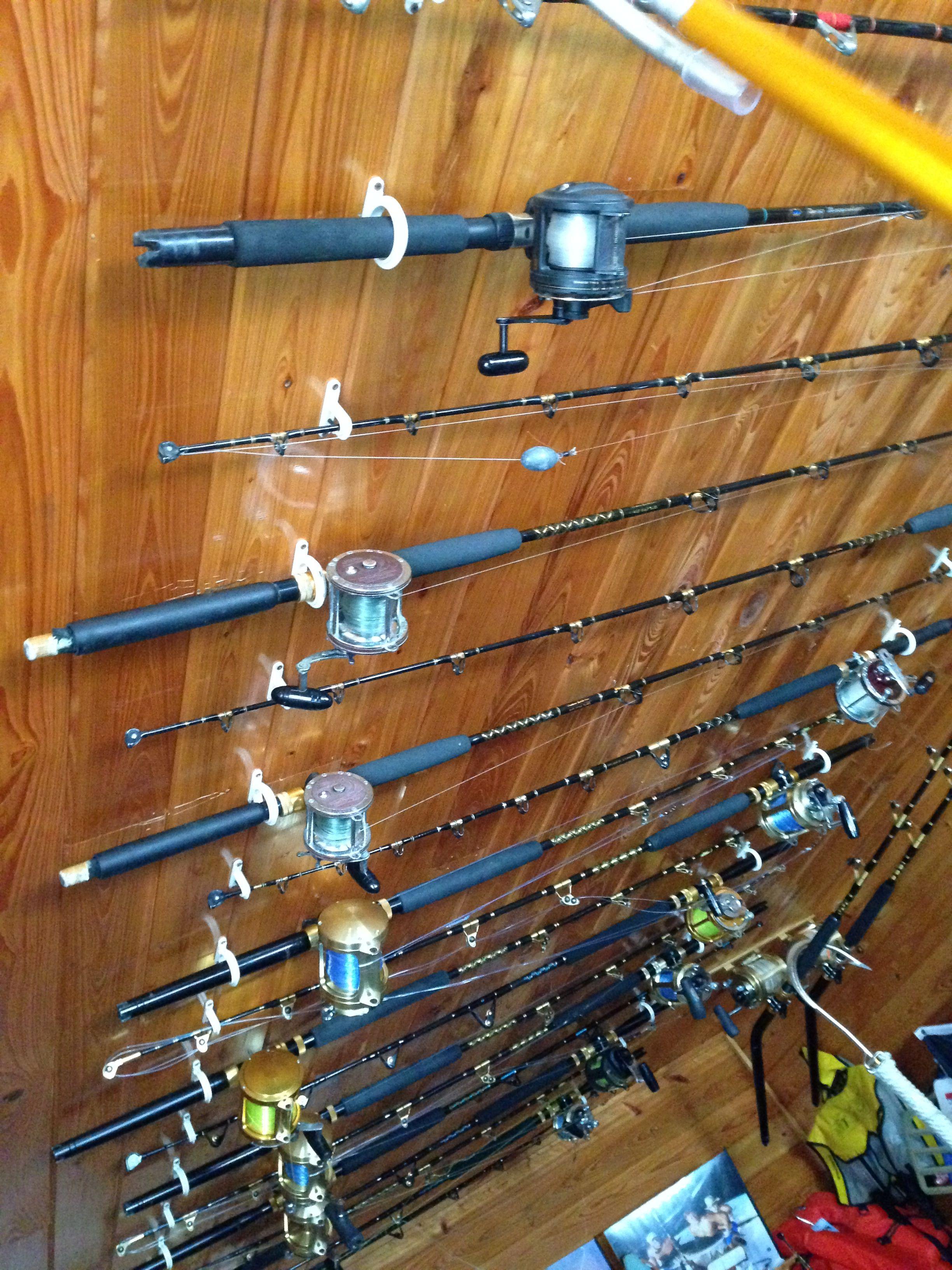 reel s ceilings by storage cabela pin rack mount rod fishing overhead holder pole ceiling holders