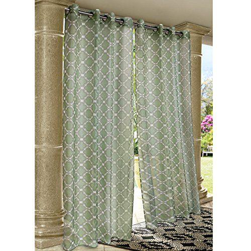 Outdoor Decor 71089 109 84 701 Wrought Iron Curtain Panel Outdoor