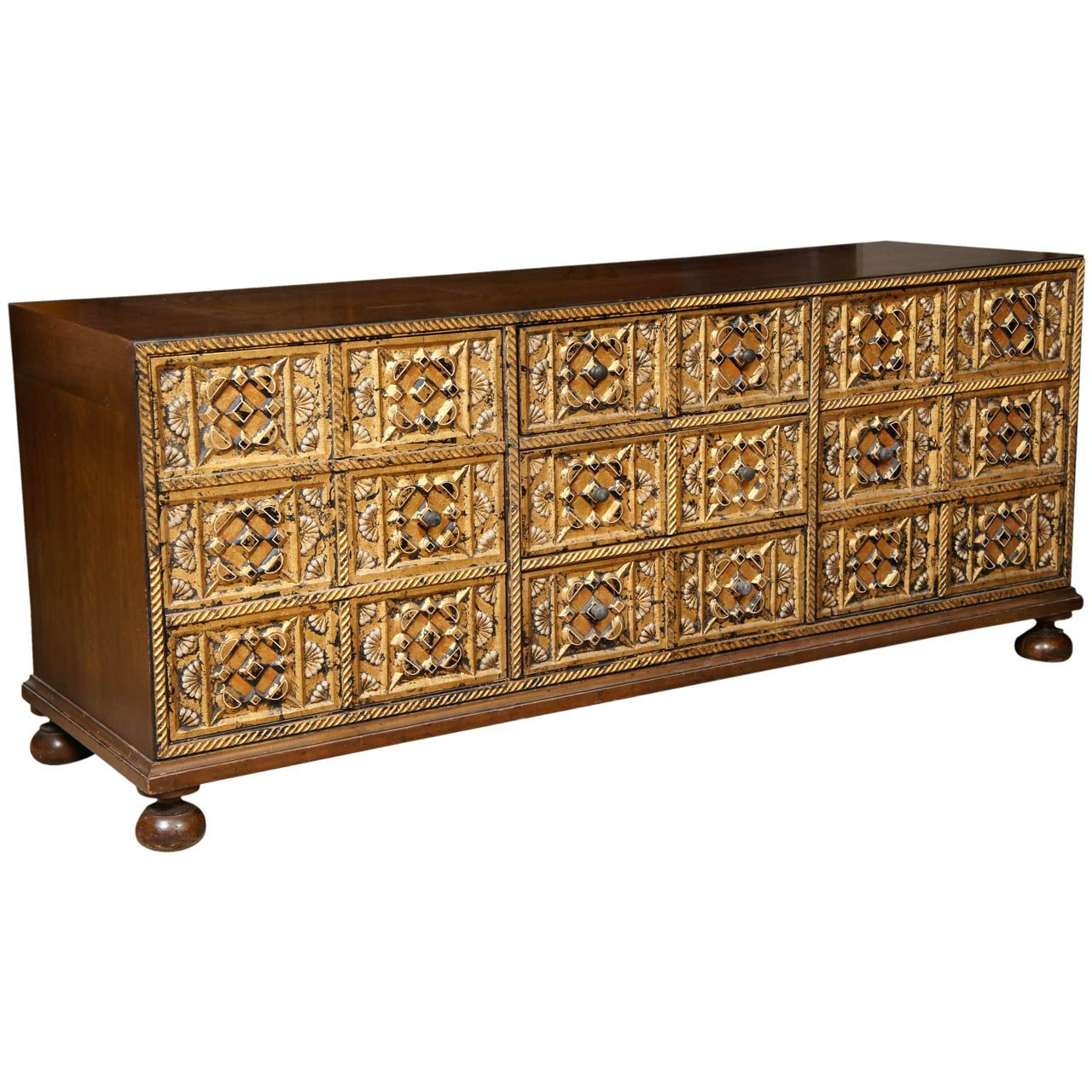 John Widdicomb Carved Gilt Front Credenza, ca.1956. It's hard to figure  where