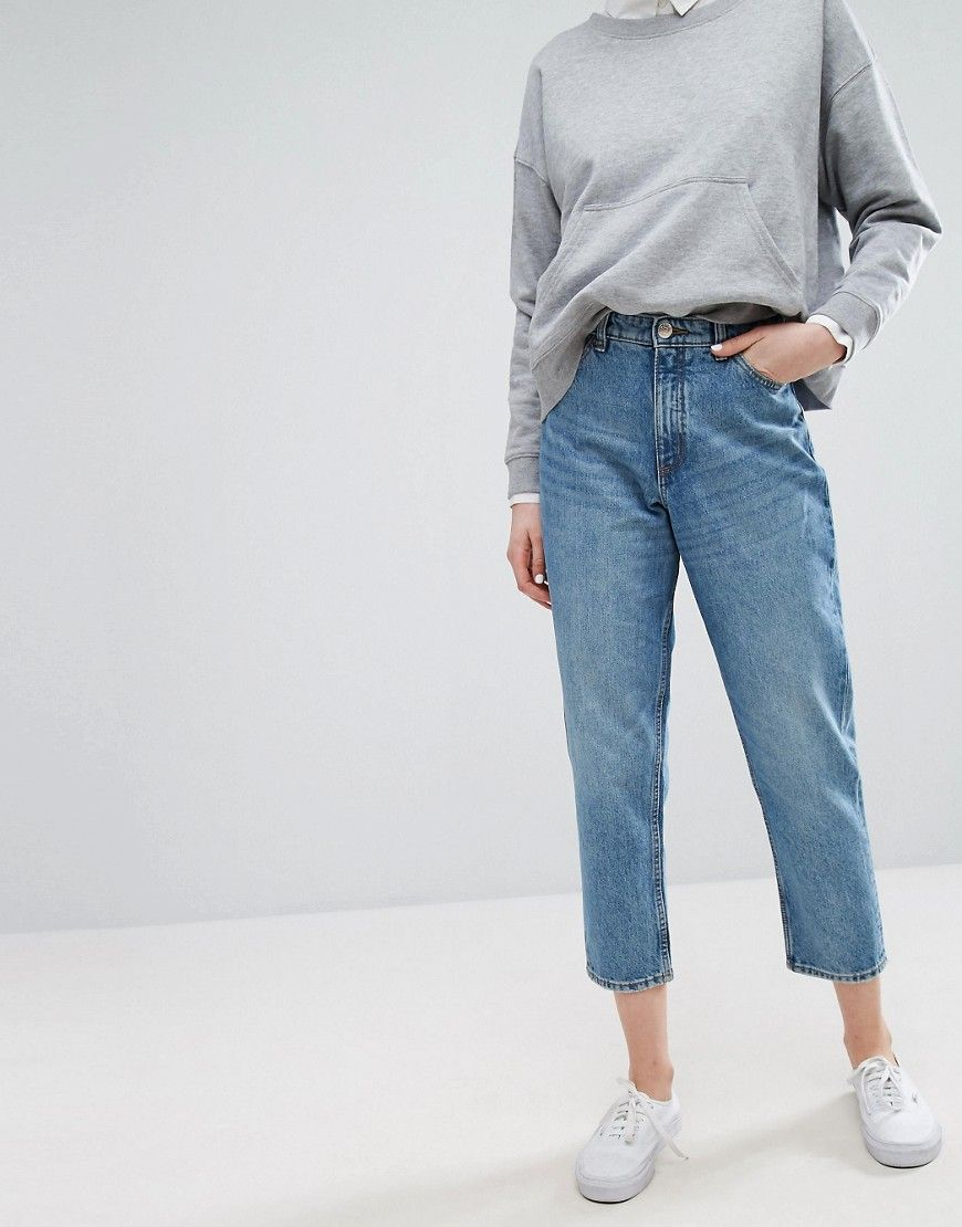 d7912c9e62 Monki Taiki High Waisted Mom Jeans - Blue   clothes in 2019   Mom ...