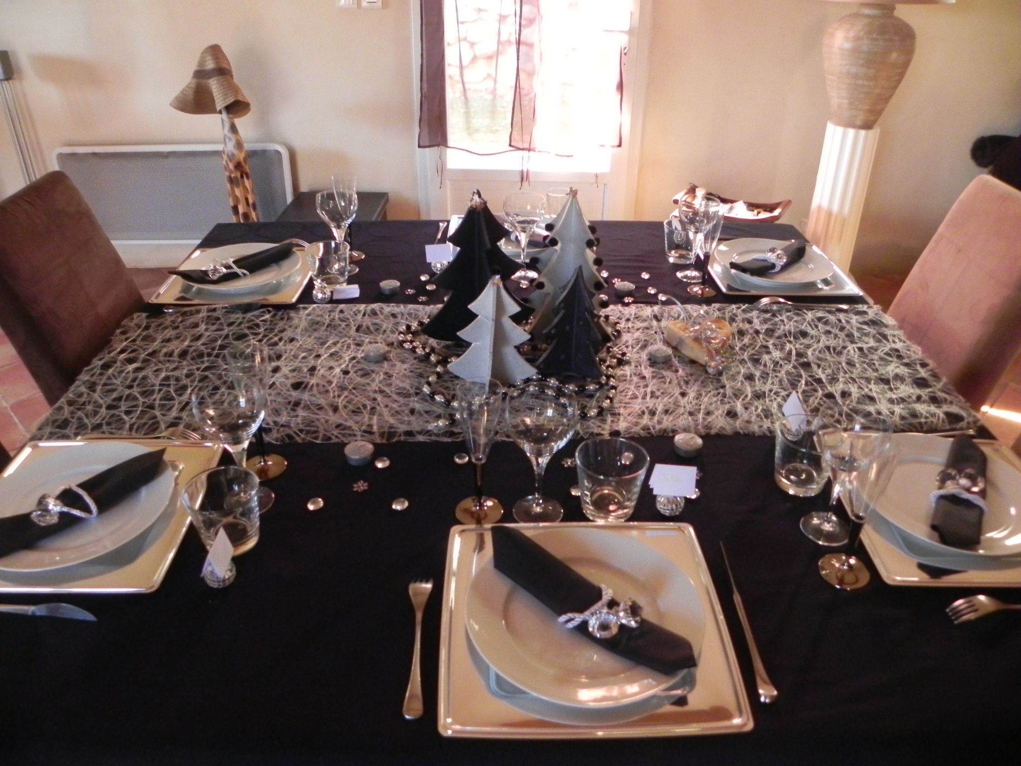 Table No L Noir Et Argent Deco No L Pinterest Noel