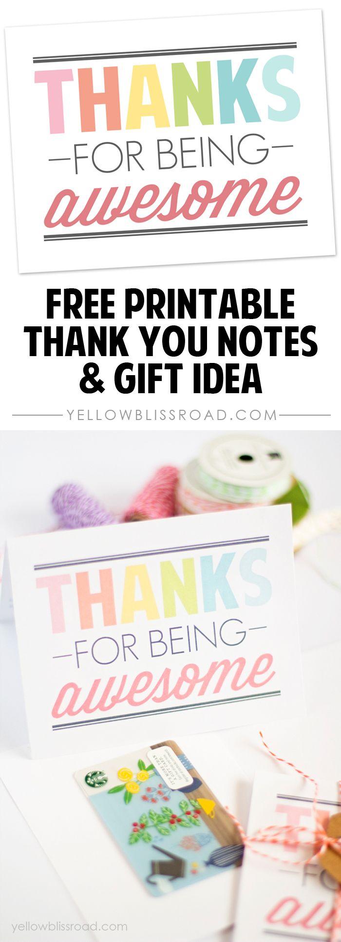 free printable thank you notes  printable thank you notes