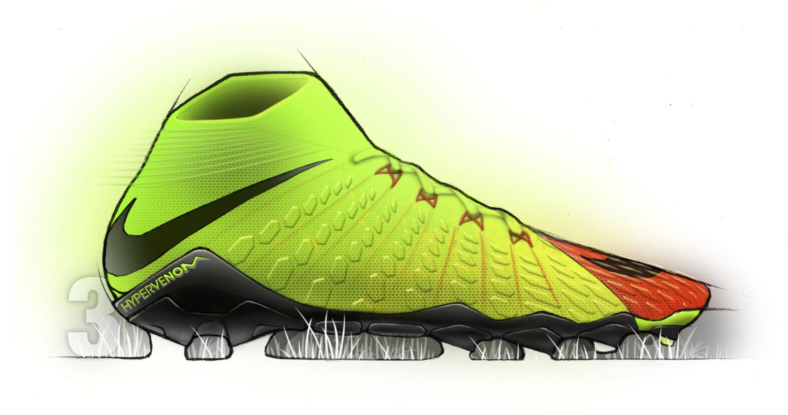 Nike Hypervenom 3 Shoe Design Sketches Shoe Sketches Designs To Draw