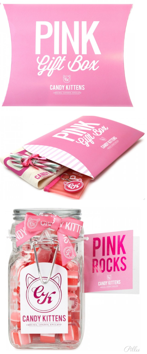 Candy Kittens Sweet Pink Gift Box Brand Packaging Cool