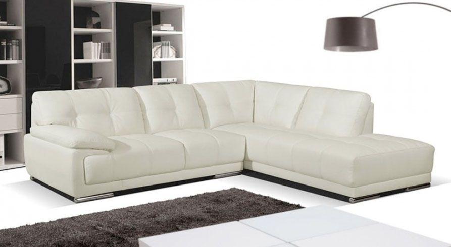 Ex Display Siena Cream Leather Corner Sofa Right Hand Room Seating Settee 099 Leather Corner Sofa Corner Sectional Sofa Sofa