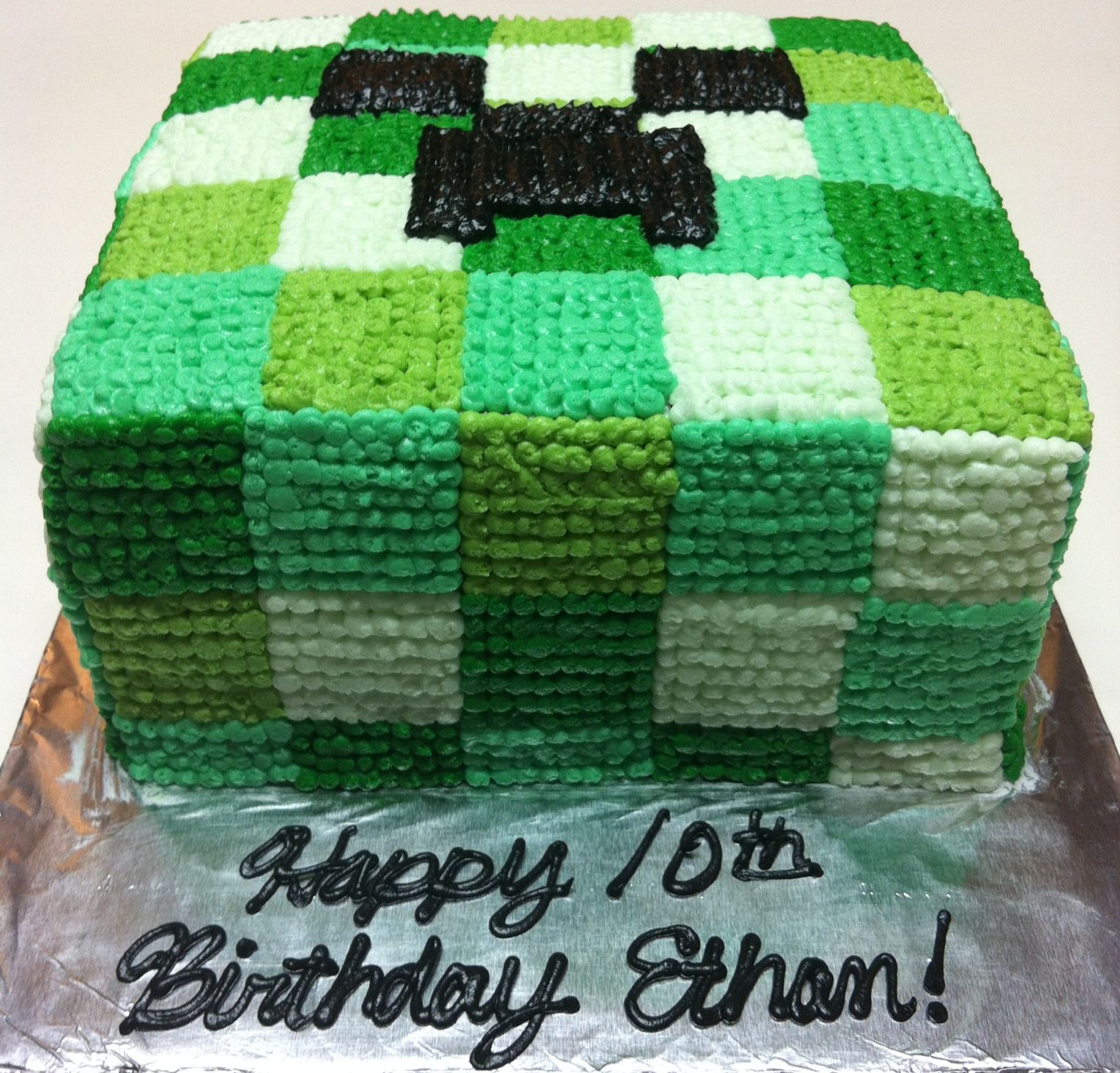 Minecraft Cake Would Work Better For Me Since There S No Fondant