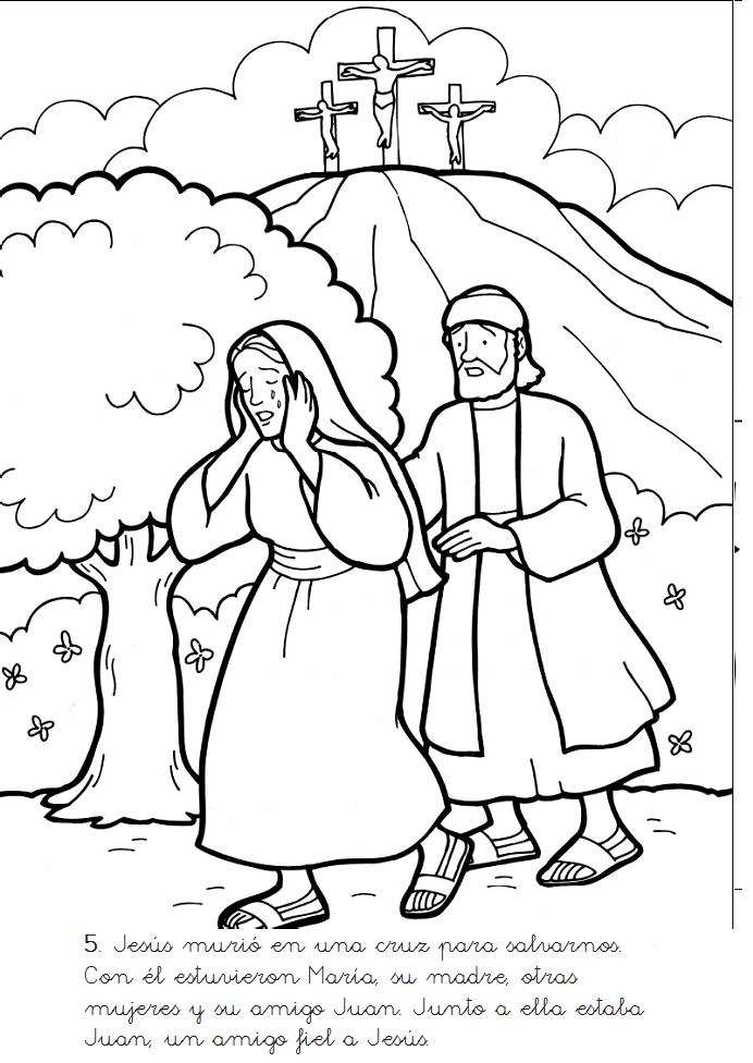Escenas De La Muerte Y Recurreccion De Jesus Para Colorear Los Mas Pequenos Y Con Paginas Para Colorear De Biblia Jesus Y Sus Discipulos Resurreccion De Jesus