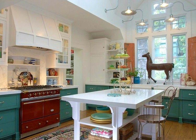 fresca cocina diseños elegante verdes caballos | Interiores para ...