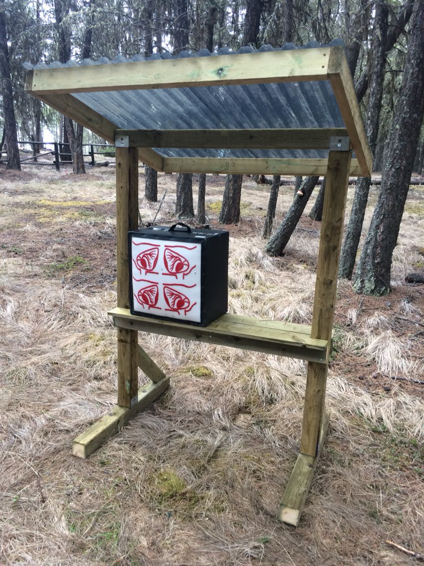 Archery Target Stand With Shelf For Box Targets Add Hooks
