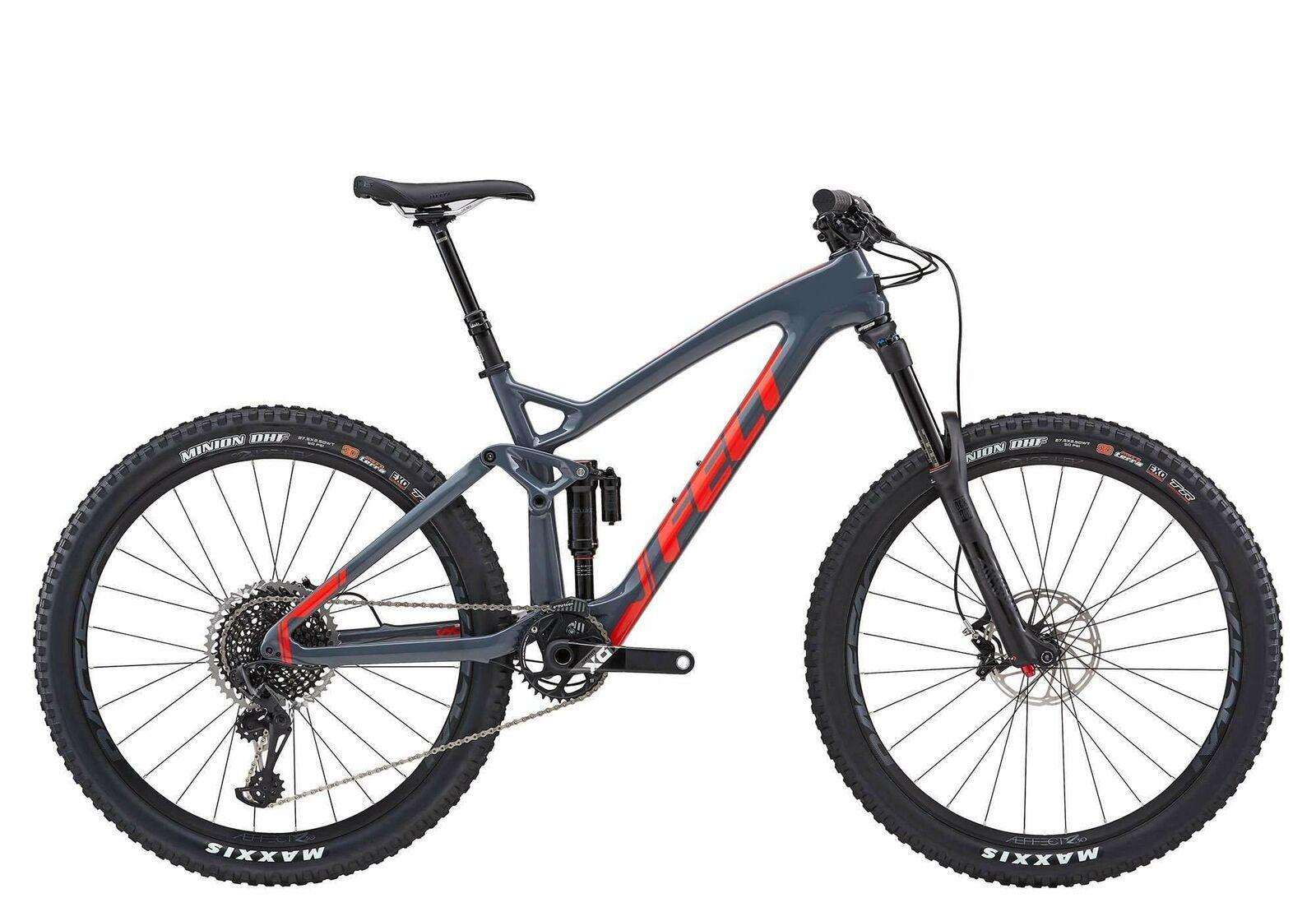 2019 Felt Decree 1 Carbon Full Suspension Mountain Bike Sram Eagle