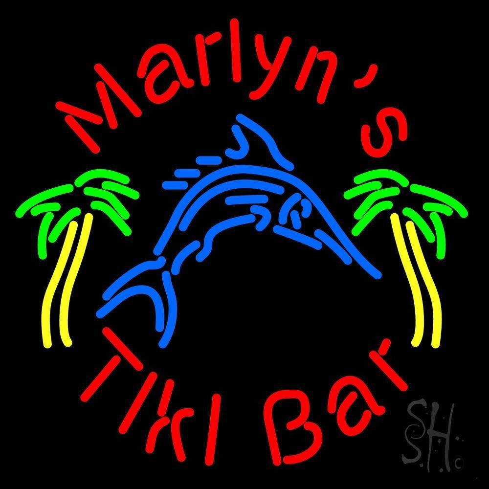 Custom Tiki Bar With Shark and Two Neon Sign | Neon signs