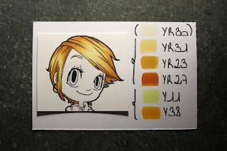 Copic honey blonde hair Combo