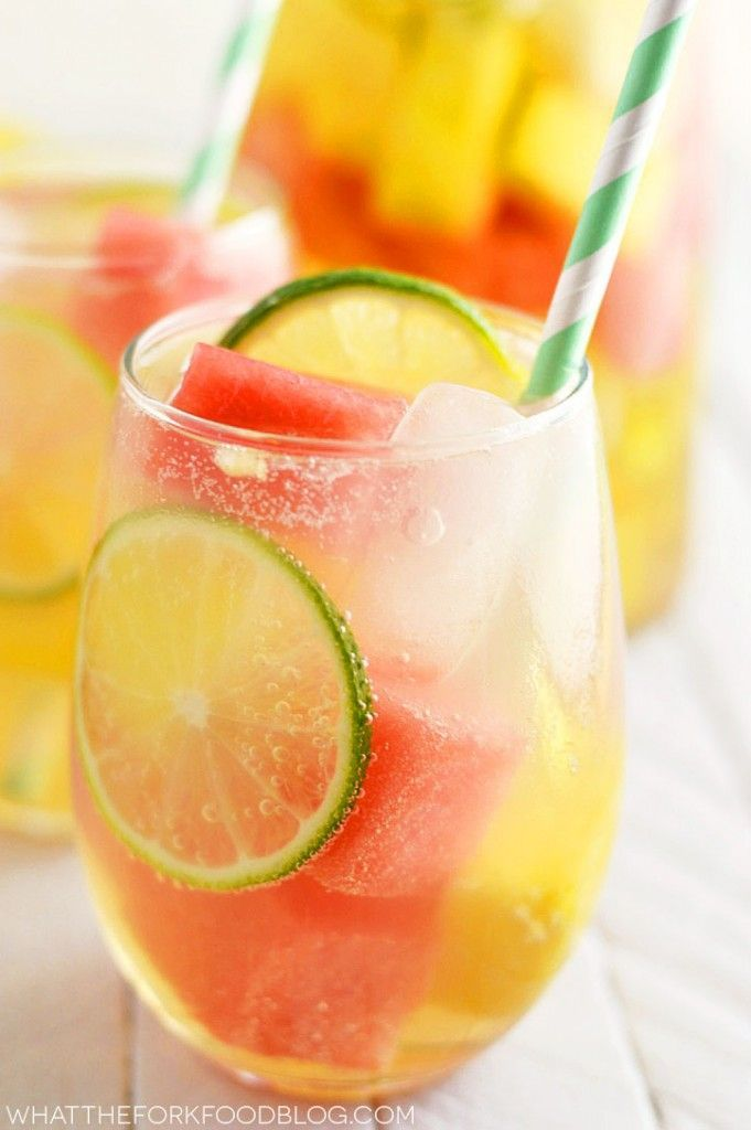 This easy and refreshing summer sangria with watermelon and pineapple is a fun twist on sangria that utilizes fresh summer produce.