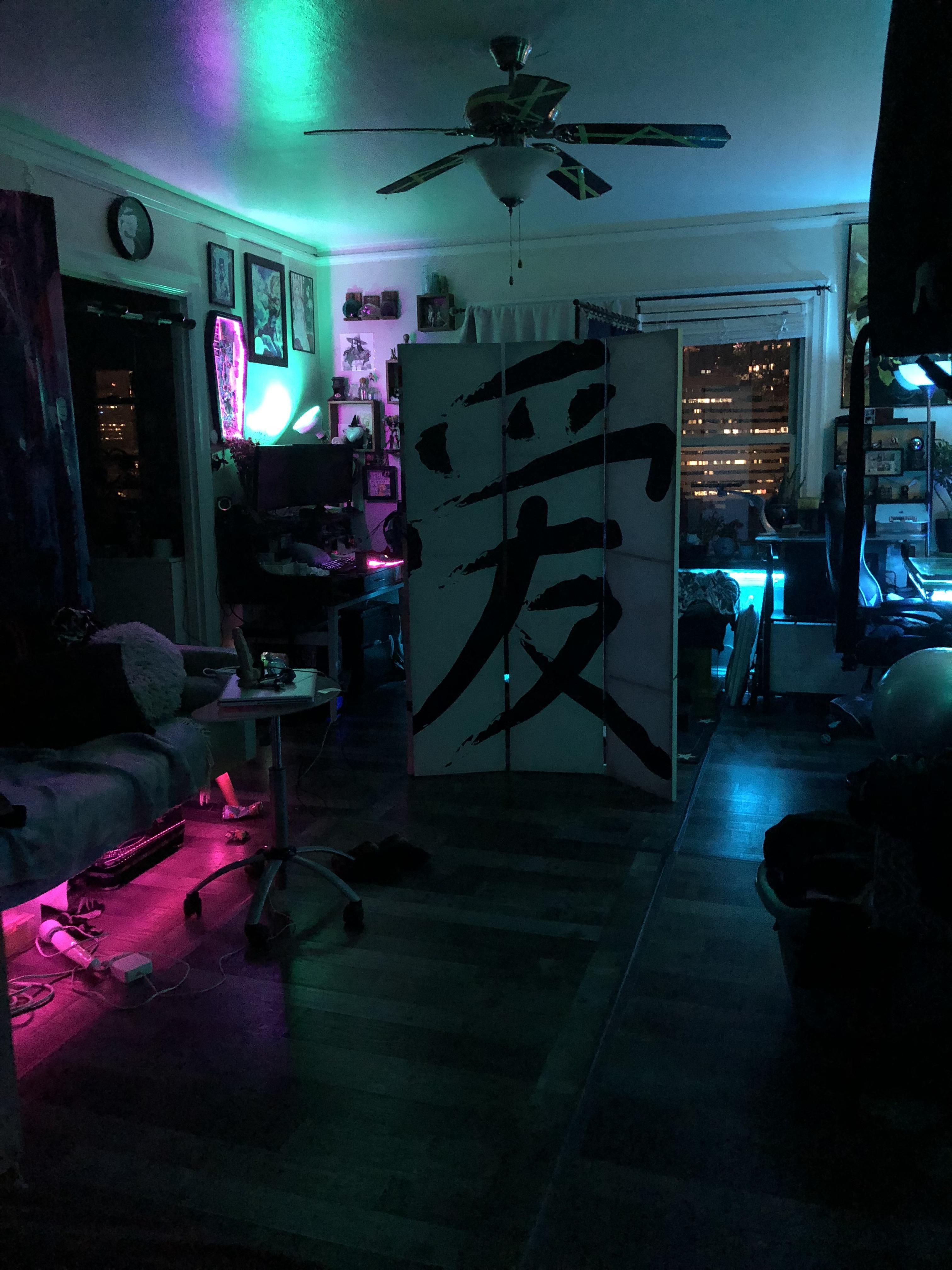 My Apartment Am I Cyberpunk Yet Gamer Room Aesthetic Bedroom Otaku Room