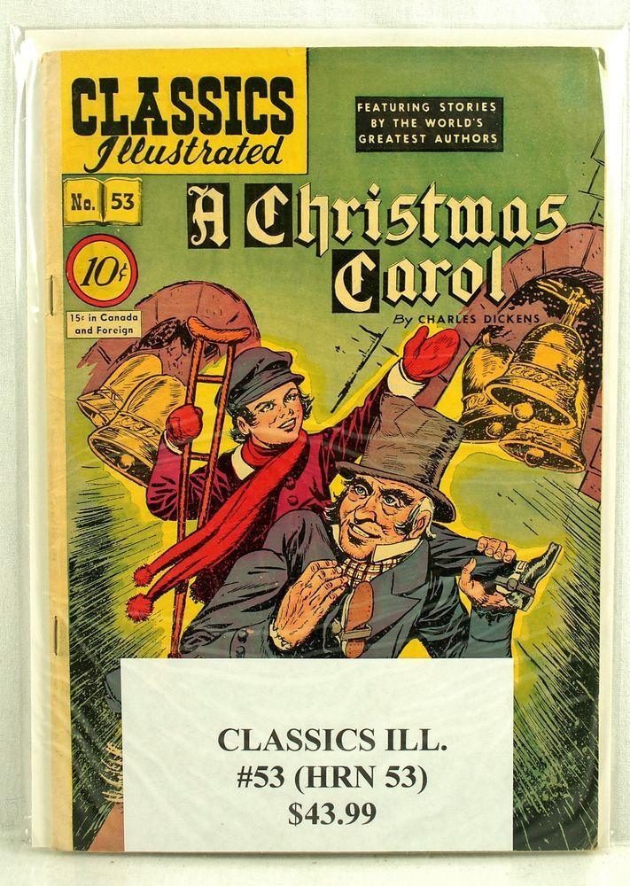 Classics Illustrated A CHRISTMAS CAROL 53 1948 vintage