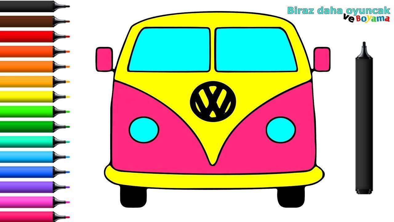 Minibus Boyama Sayfasi Cocuklar Icin Boyama Videolari Araba