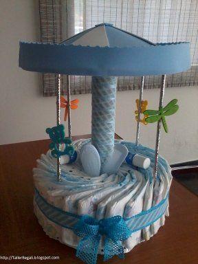 Tartas De Panales Para El Baby Shower Manualidades Para Baby Shower Tortas Pasteles De Panales Regalos Con Panales