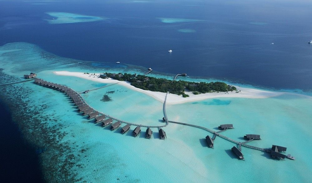 Aerial View Of The Cocoa Island South Male Atoll Maldives