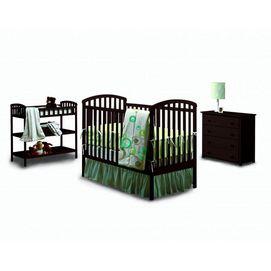 Dark Espresso Crib, Change Table And Dresser.