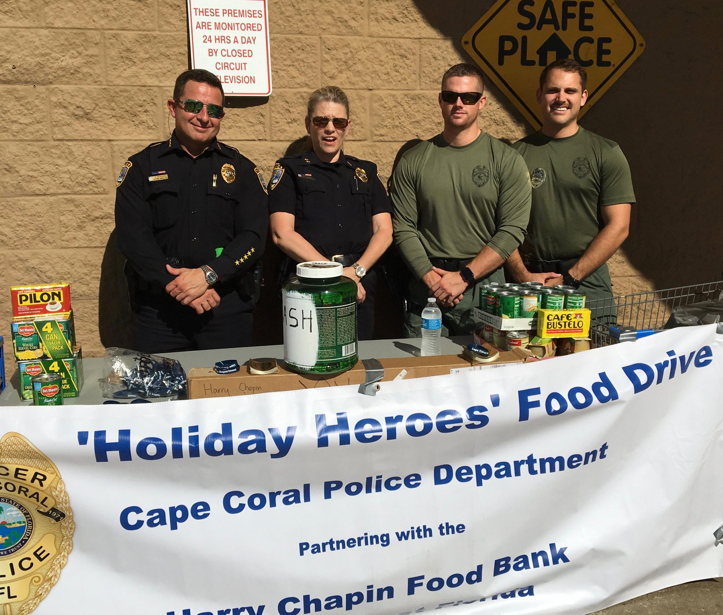 Results Of Cape Coral Police S 6th Annual Holiday Heroes Food Drive For The Harry Chapin Food Bank Cape Coral Police Department Food Bank Chapin Food Drive