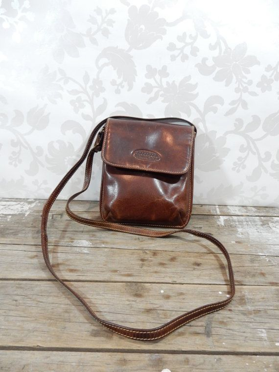 Vintage Leather Purse, Bosboom Purse, Dark Brown leather, made in the Netherlands, Dutch