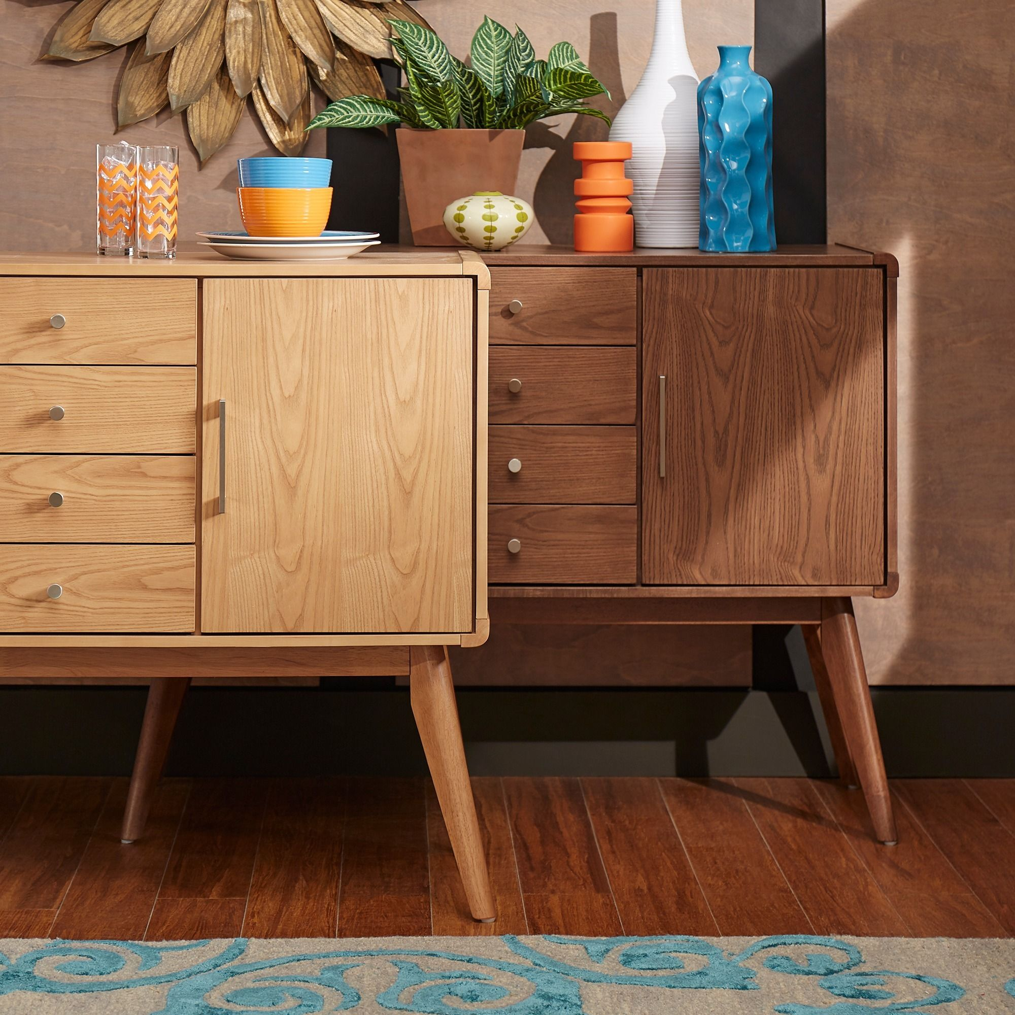 penelope danish modern buffet console table inspire q modern by inspire q
