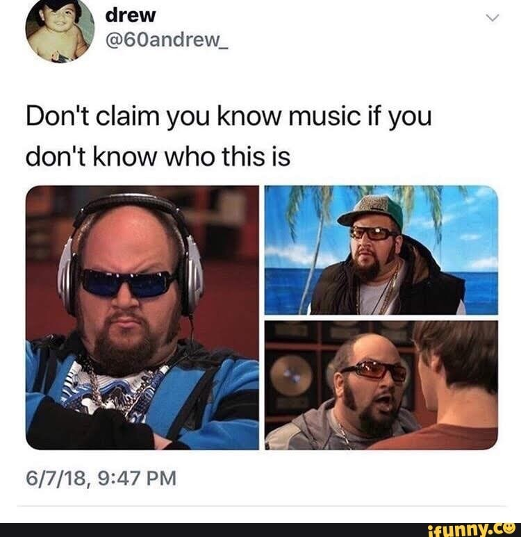 Don't claim you know music if you don't know who this is ...