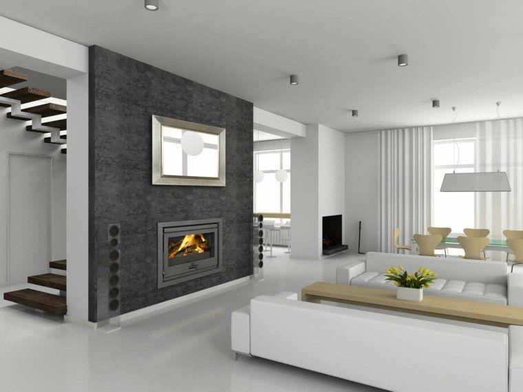 Cheminée moderne  60 idées de décoration du0027intérieur convivial - decoration de salon moderne