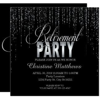 sparkle silver retirement party invitations unique and fun party