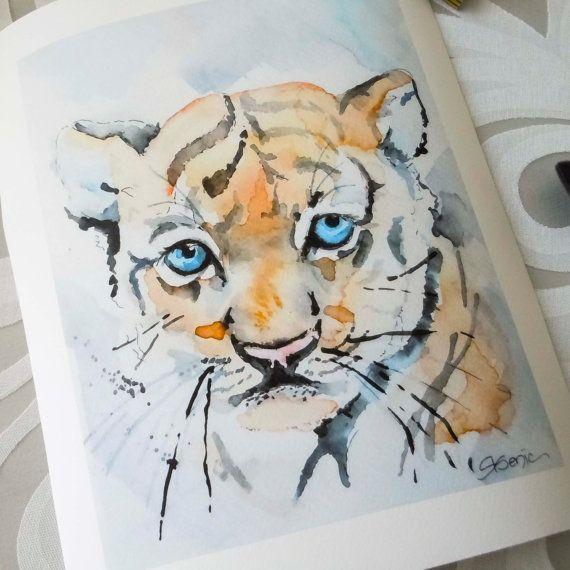 Baby Tiger PrintBaby Blues Kid's Art Nursery by ...