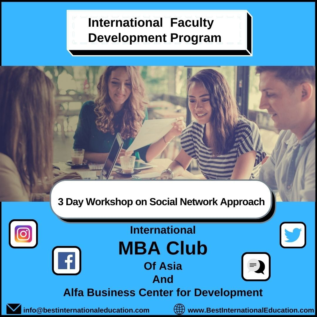 International  Faculty Development Program ✨ 3 Days Workshop on Social Network Appproach👩🏼‍💻  International  MBA Club  Of Asia  And  Alfa Business Center for Development   . . . #aircrews #aviationindustry #internationalfaculty #devlopmentprogram #devloper #mba #mbastudent #workshoplife #mbaclub #alfabusinessweek #socialnetworking #instagramtip #facebookmarketing #twittertips #linkedinlearning #fridaymotivation #workshoplife #dontmissout‼️ #joinustoday #socialmediainfluencer #socialmedia