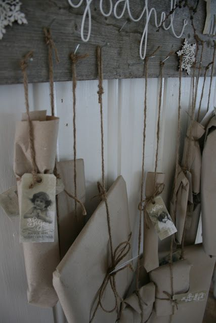 Advent gifts tied up with string ~ from VIBEKE DESIGN