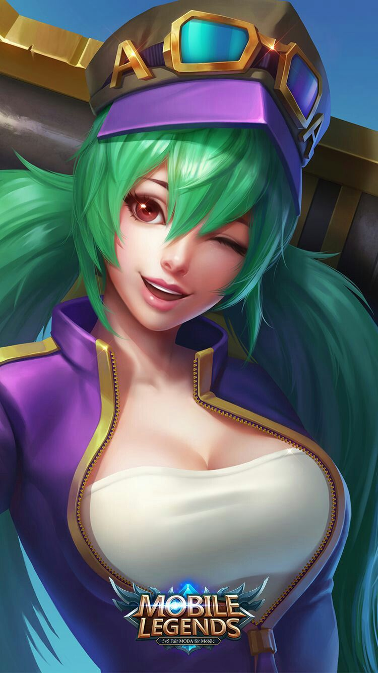 Layla Green Flash Skin Mobile Legend Wallpaper Hero Wallpaper Iphone Wallpaper Lol League