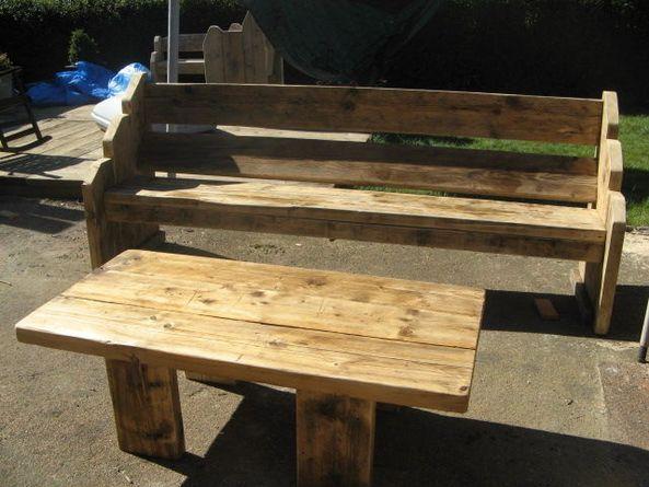 Wondrous Garden Furniture Made From Reclaimed Timbers Batons Etc Inzonedesignstudio Interior Chair Design Inzonedesignstudiocom