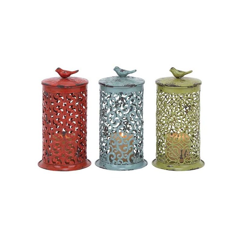 Assorted Metal Bird Candle Lantern | Weekends Only Furniture and Mattress