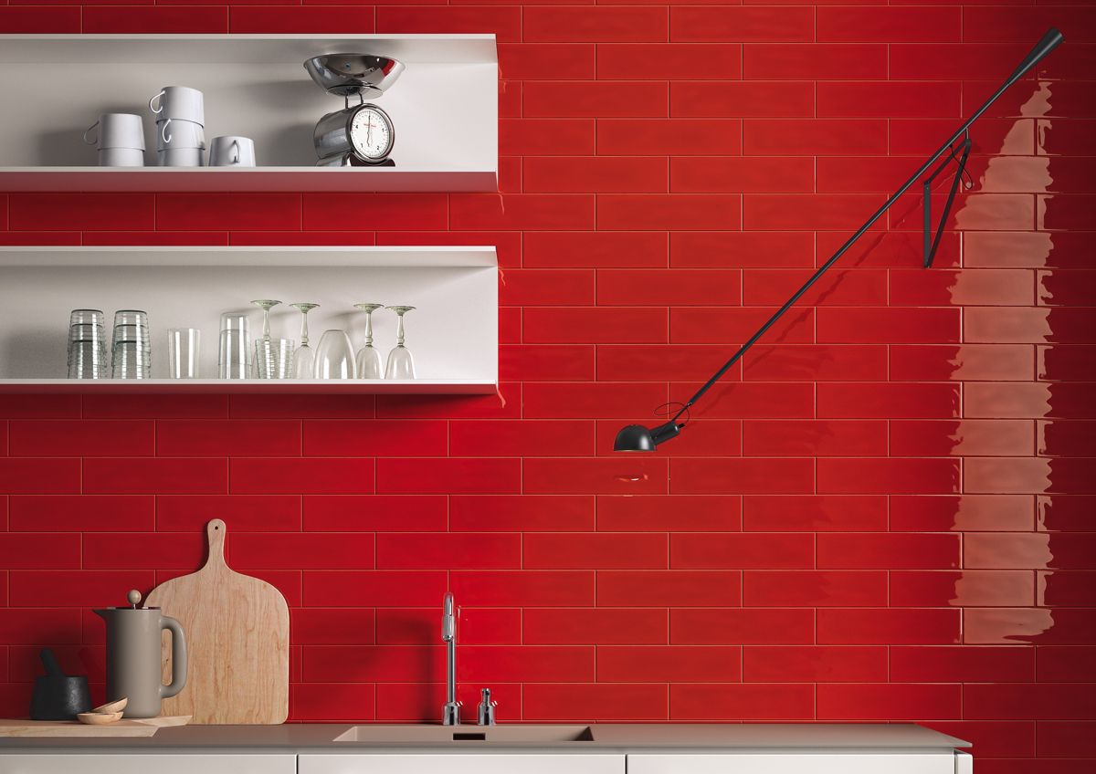 The Effervescent Collection Offers The Best Of All Worlds With Pops Of Bright Red And Yellow And The Softness Of Ceramic Wall Tiles Tiles Texture Ceramic Tiles