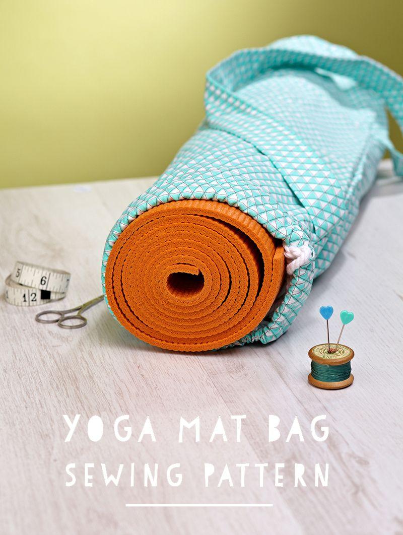 Yoga mat bag free pattern + tutorial   Sew It! ~ Bags   Pinterest ...
