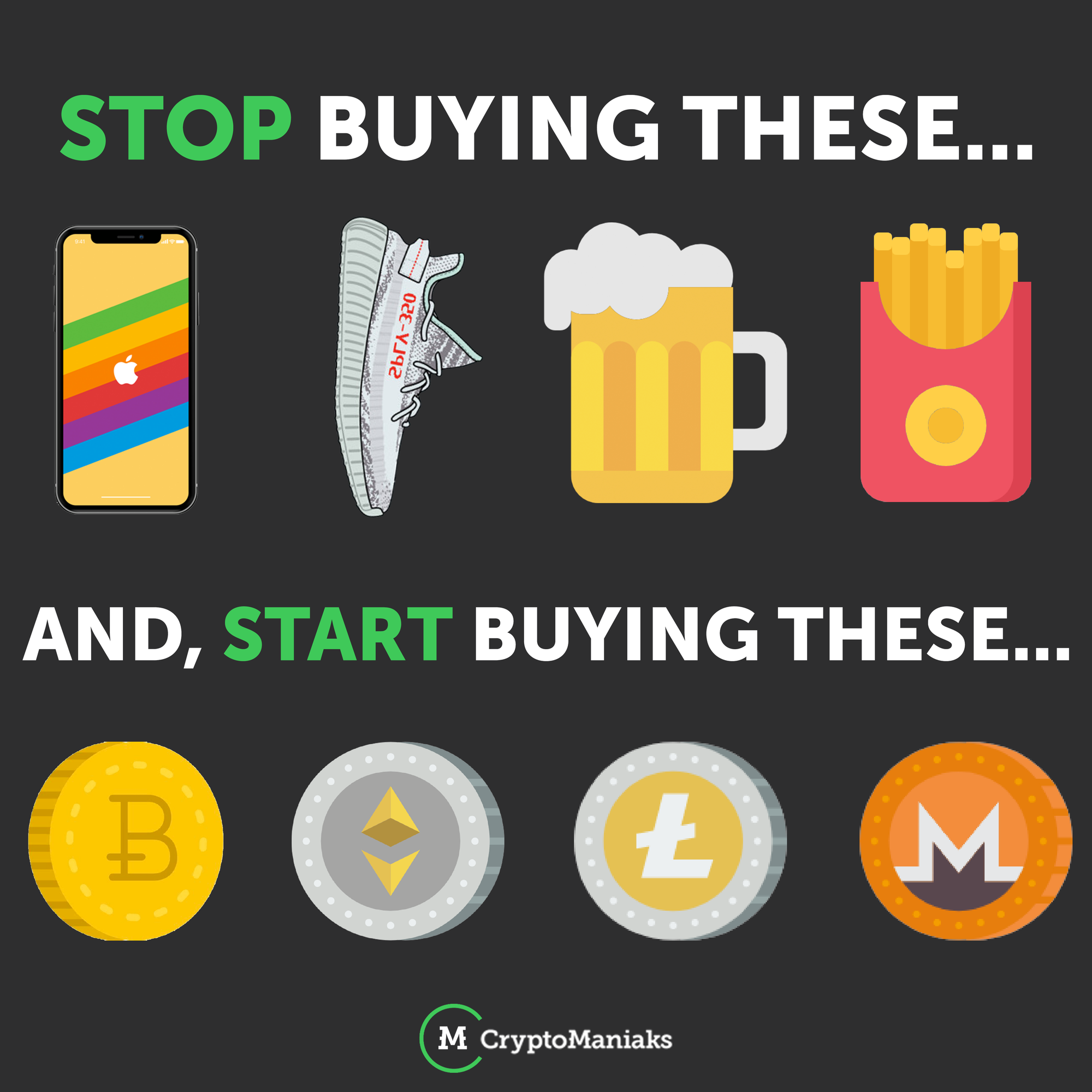 Don T Waste Your Money Invest In Your Future And Freedom Cryptocurrency Bitcoin Investing