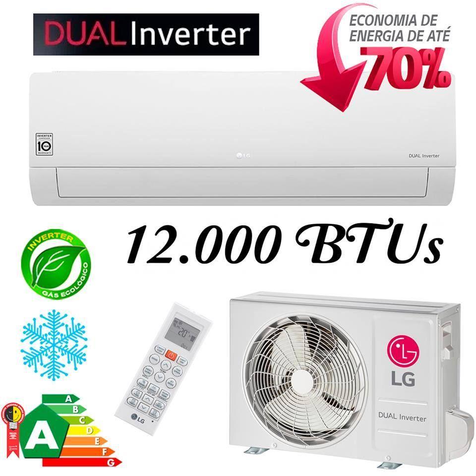 Ar Condicionado Split Hi Wall Lg Dual Inverter 12000 Btus Frio