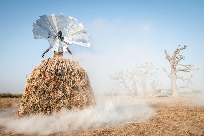 fabrice monteiro shows senegal's pollution with garbage garments