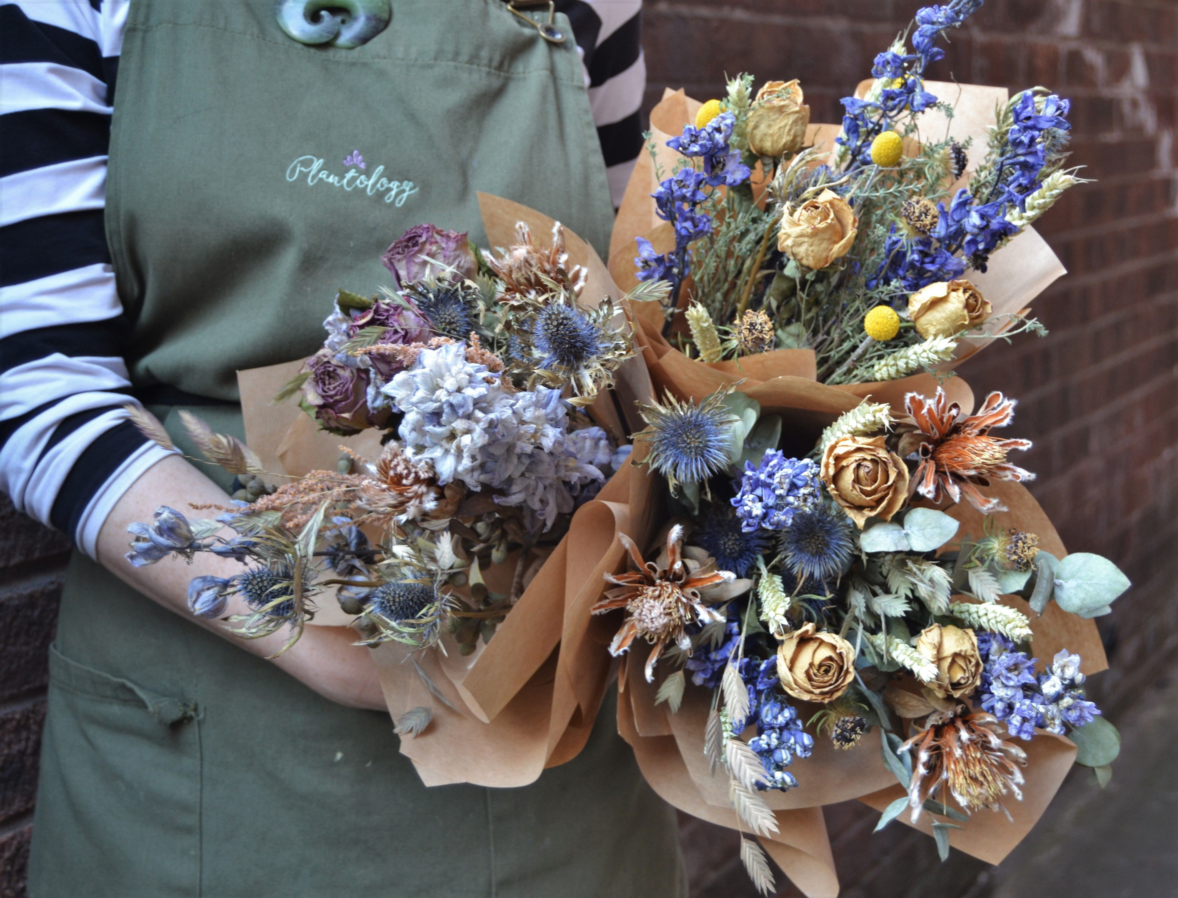 Dried flowers bouquets by plantology floral creations