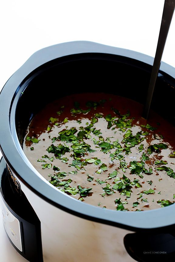 Cooker Black Bean Soup Slow Cooker Black Bean Soup -- let your crock pot do the work with this delicious vegetarian soup | Slow Cooker Black Bean Soup -- let your crock pot do the work with this delicious vegetarian soup |