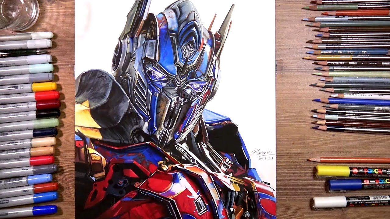 Transformers: Optimus Prime - speed drawing | drawholic ...