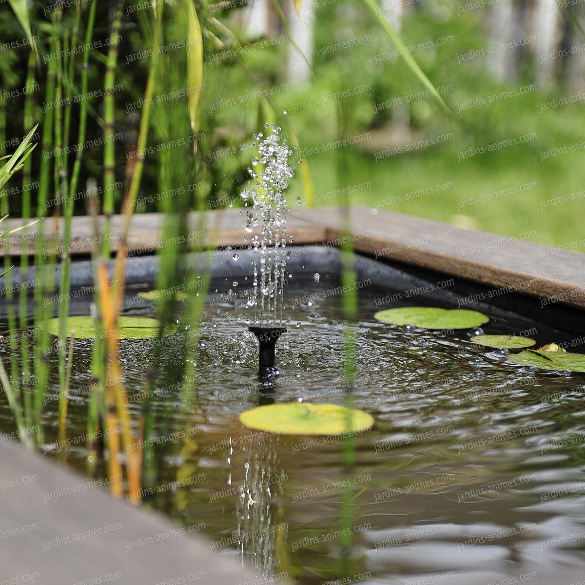 Fontaine solaire petits bassins sj150 fontaine solaire - Petite fontaine de jardin pas cher ...